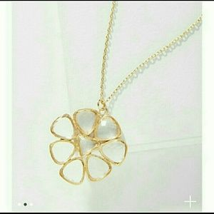 Anthropologie Blooming Flower Pendant Necklace NWT